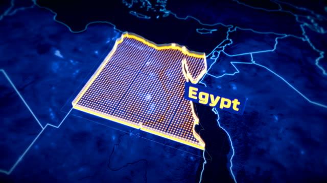 """Ã""""gypten-Land-Grenze-3D-Visualisierung-moderne-Karte-Umriss-Reisen"""