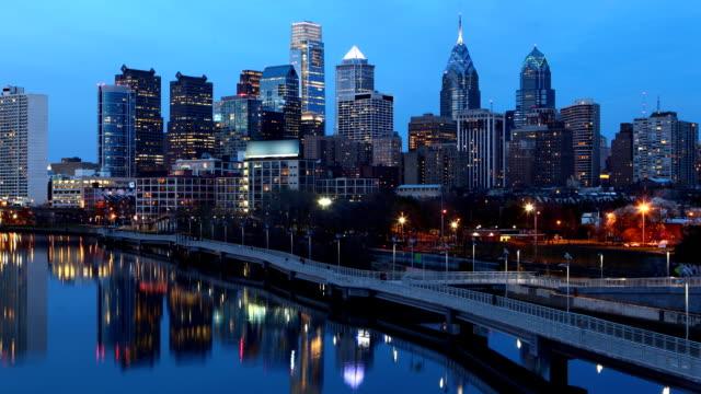 Cinemagraph-bucle-noche-Timelapse-Filadelfia-tamaño-de-archivo-reducido