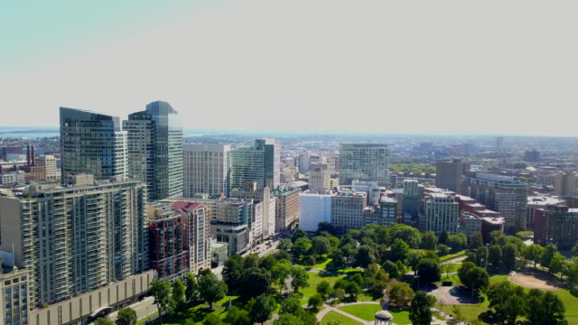 Parque-en-la-vista-aérea-de-Boston-