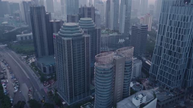 Disparo-aéreo-del-centro-de-Yakarta-por-la-mañana