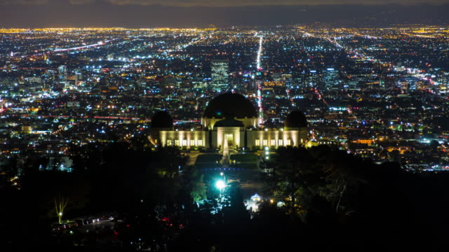 The-Griffith-Observatory-at-Night-Los-Angeles-California
