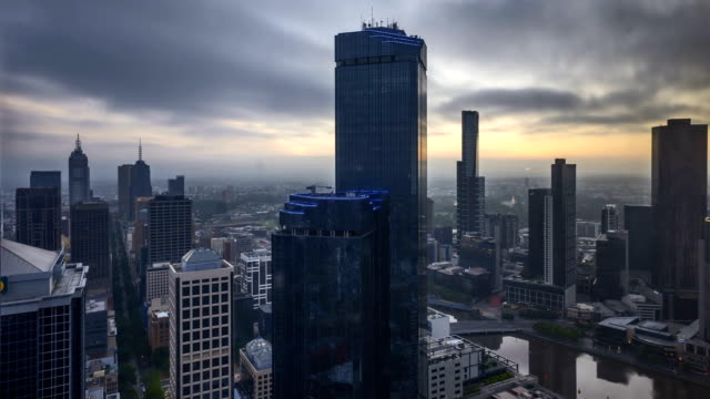 Sunrise-at-Melbourne-City-Skyline-4k-Time-lapse-