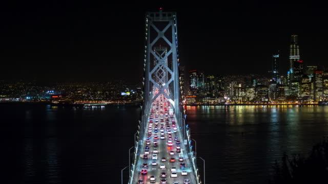 San-Francisco-Oakland-Bay-Bridge-at-Night-Timelapse