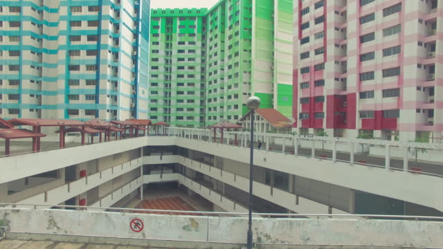 Multicoloured-Rochor-centre-building-an-aerial-view-built-in-1977-Singapore