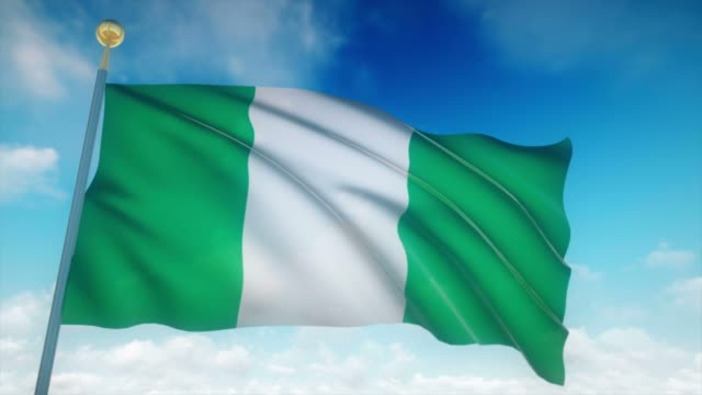 4-k-hochdetaillierte-Flagge-Nigerias-Endlos-wiederholbar