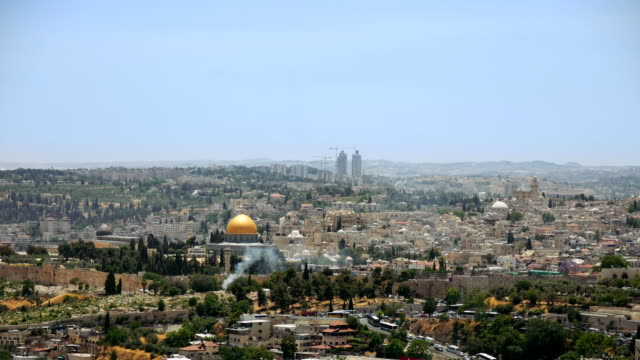 Jerusalem-panoramic-aerial-view-time-lapse