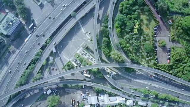 Vista-aérea-de-puente-ocupado-Jakarta
