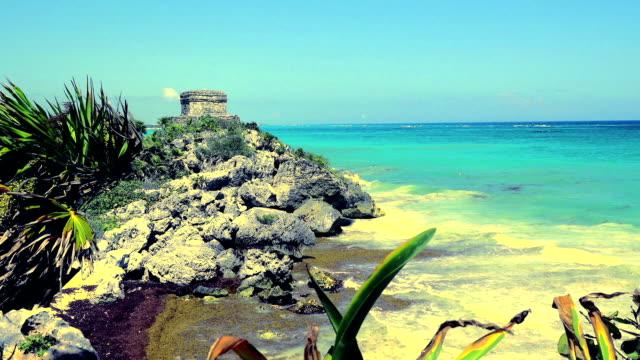Mayan-Ruins---Beach-Temple---Closeup