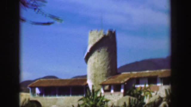 1952:-Fancy-wealthy-tropical-cliff-villa-mansion-medieval-castle-tower-home-