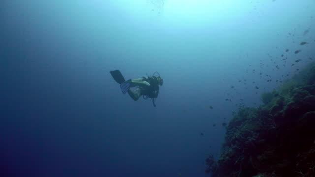 Taucher-Unter-Wasser