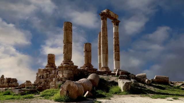 Amman-city-landmarks---old-roman-Citadel-Hill-Jordan