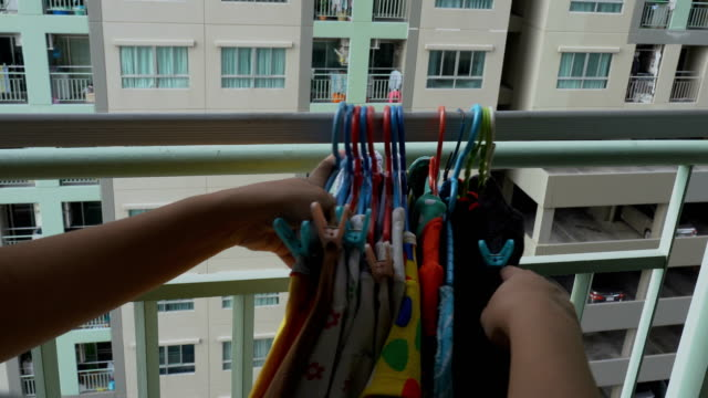 Keep-dried-colorful-clothes-back-from-drying-rack-