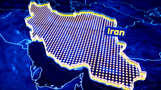 Iran-country-border-3D-visualization-modern-map-outline-travel