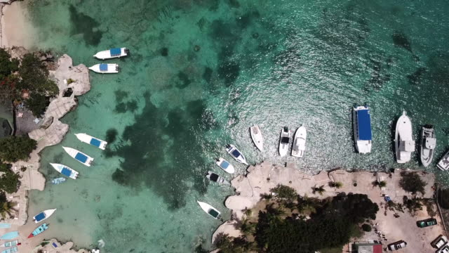 Top-view-of-the-bay-and-yacht-