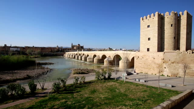 Cordoba-Spain-cityscape-at-the-Roman-Bridge-and-Mosque-Cathedral-