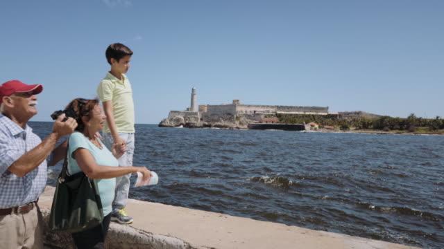 Grandparents-Grandson-Family-On-Holidays-In-Havana-Cuba-Steadicam