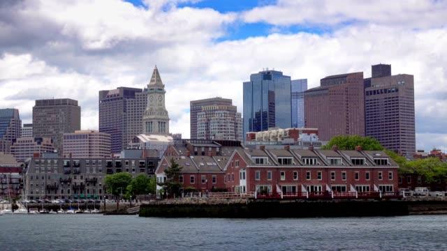 Boston-Skyline-Establishing-Shot-as-Seen-from-Boston-Inner-Harbor