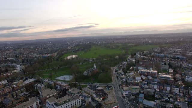 London-Suburban-Downtown-Neighborhood-Clapham-Park-Aerial-View