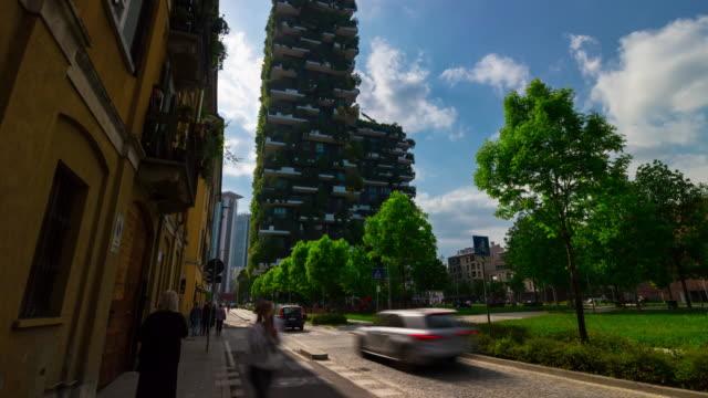 Italy-sunny-day-milan-city-famous-modern-buildings-backyard-panorama-4k-timelapse