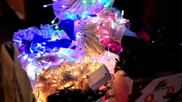 Diwali-fancy-led-decoration-lights-selling-in-old-Delhi-market