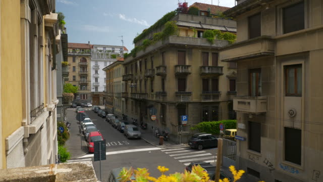 day-time-milan-city-living-block-slow-motion-balcony-street-view-4k-italy