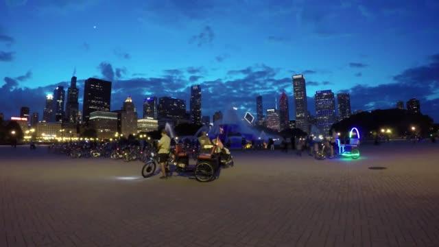 Buckingham-Fountain-Chicago-Twilight-Video-de-lapso-de-tiempo