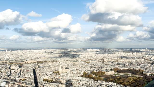 Paris-France---November-20-2014:-aerial-view-timelapse-of-Paris-city-