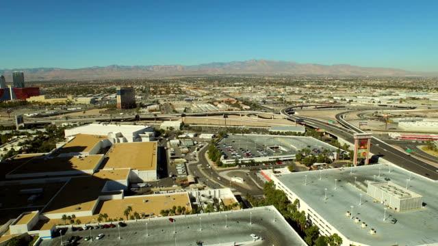 Las-Vegas-Strip-Freeway-Luftaufnahme-der-Vororte-der-Stadt