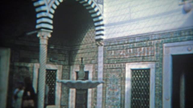 RABAT-MARRUECOS-1972:-En-el-interior-azul-cerámica-de-Mezquita-marroquí-turismo-sitio-