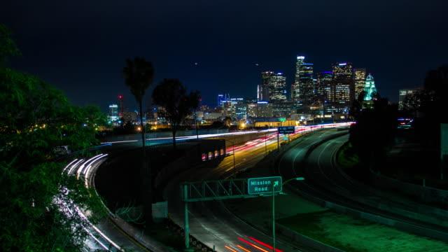 Autopista-101-y-centro-de-Los-Angeles-Timelapse