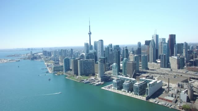 Toronto-Kanada-Skyline-Luftbild-Drohne-Footage