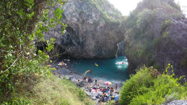 San-Nicola-Arcella-Arco-Magno-Beach-and-Rocks-South-Italy-Calabria-Cosenza-Real-Time-4k