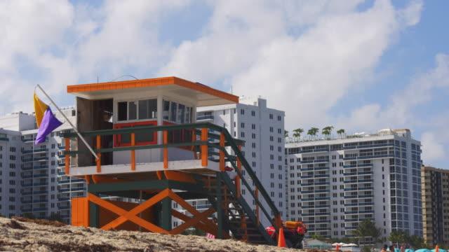 Usa-miami-south-beach-summer-day-lifeguard-tower-4k-florida