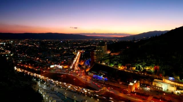 Noche-de-vista-de-Shiraz-Irán-Lapso-de-tiempo
