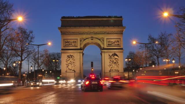 Arc-de-triumph-Paris-France-Time-Lapse