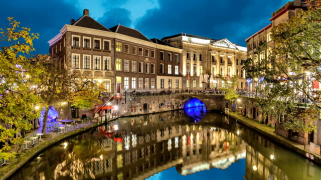 Canal-in-the-historic-center-of-Utrecht-in-the-evening