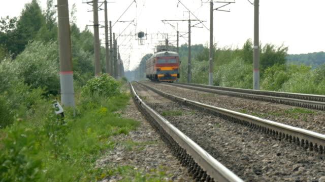 The-train-leaves-far-along-the-rails-