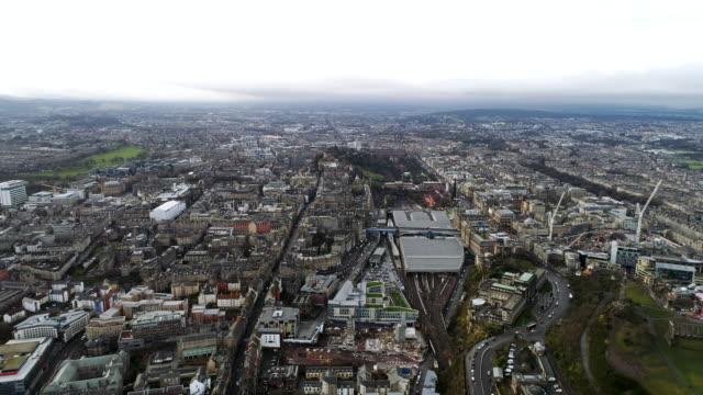 Edinburgh-Scotland-Aerial-View-Cityscape