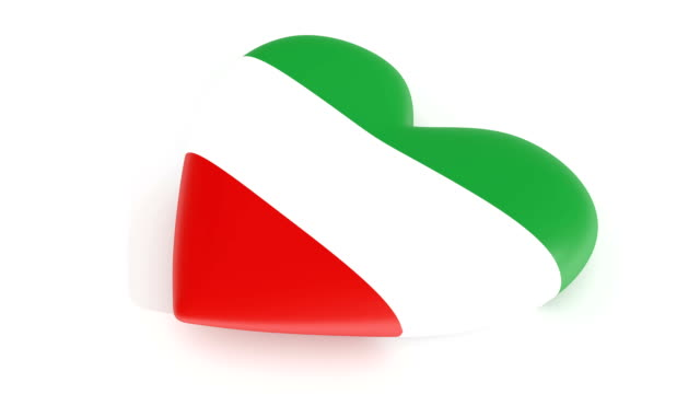 Pulsating-heart-in-the-colors-of-Iran-flag-on-a-white-background-3d-rendering-loop