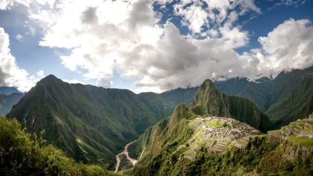 Wide-Angle-Time-Lapse-Video-Of-Machu-Picchu-In-Peru