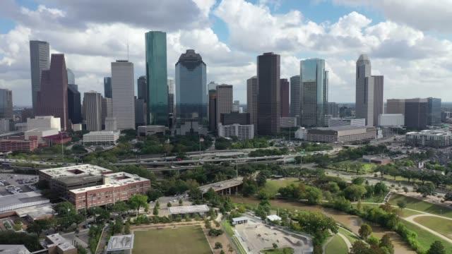 Aerial-of-Downtown-Houston,-Texas