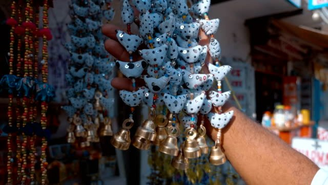 Indian-traditional-colorful-national-bells-are-attracting-tourists