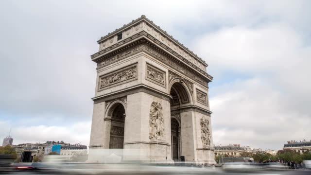Paris-France---November-15-2014:-timelapse-of-Arc-De-Triomphe-in-Paris-France