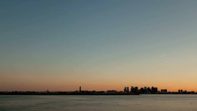 Time-lapse-Boston-Airport-Skyline-Sunset-wide