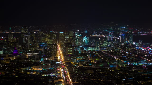 San-Francisco-Skyline-noche-Timelapse-cerrar