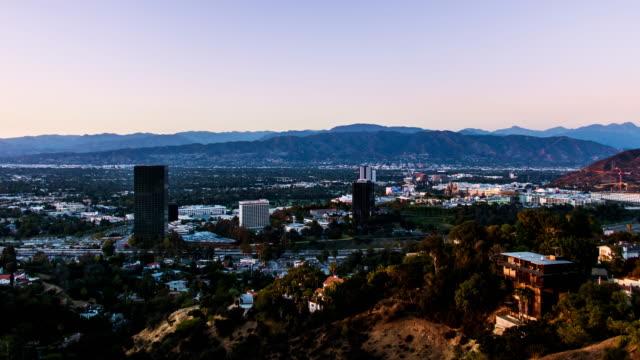 Universal-City-Burbank-and-Studio-City-Day-to-Night-Sunset-Timelapse