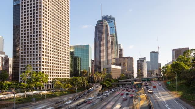 Die-Innenstadt-von-Los-Angeles-Tag-Hyperlapse-Timelapse