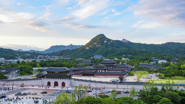 Timelapse-at-Gyeongbokgung-Palace-in-Seoul-South-Korea