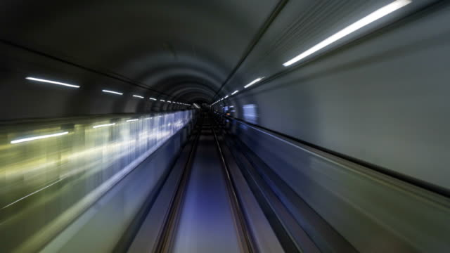 Timelapse-of-subway-train-journey-Automatic-train-moving-to-tunnel-Seoul-South-Korea