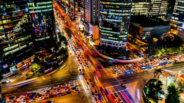 Traffic-at-Night-in-Gangnam-City-Seoul-Korea-Timelapse-4k